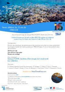 Flyer événement des 15 ans de l'IFRECOR - 5 juillet 2016
