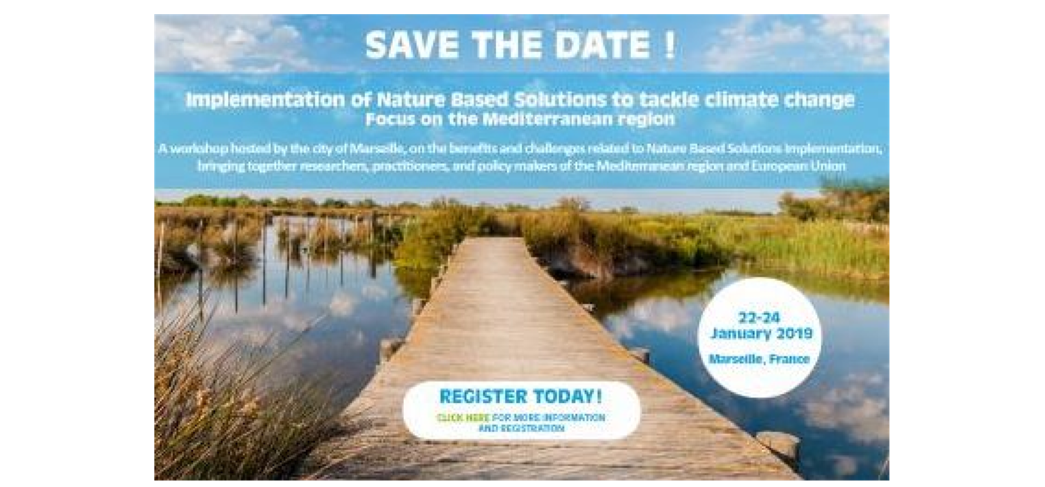 International Workshop « Implementation of Nature Based Solutions to tackle climate change: Focus on the Mediterranean region »